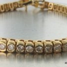 Genuine 5 ct Carat DIAMOND Tennis Bracelet 14K Gold