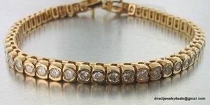 Genuine 5 ct Carat DIAMOND Tennis Bracelet 14K Gold