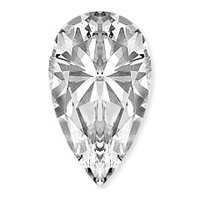 Genuine GIA Certified 1.05 ct Pear Loose Diamond J SI1