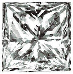 Genuine GIA Cert. .71 ct Princess Loose Diamond G VVS1