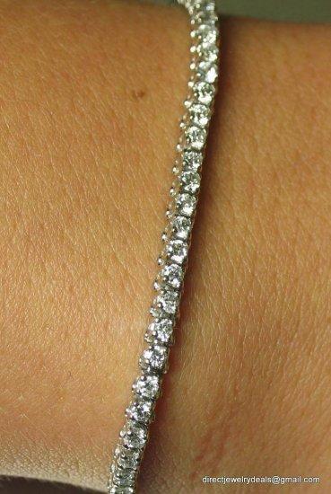 Genuine 1.5 ct DIAMOND Tennis Bracelet 14K White Gold