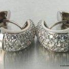 Genuine .50 Carat DIAMOND Pave Dome Hoops18K Gold H SI2