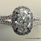 GIA Cert. Genuine 1 ct Diamond Engagement Ring E/S1 18K