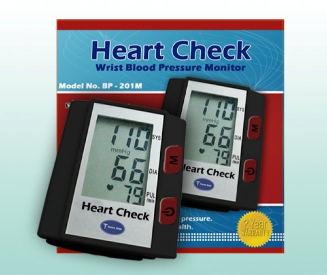 Heart Check Digital Wrist Measure Blood Monitor
