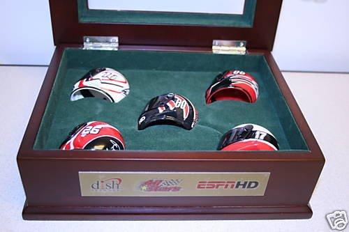 UNIQUE Limited Edition NASCAR Mini-Helmets 6pc Set RARE
