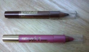JORDANA JUMBO PENCIL LIPSTICK-PINK PASSION & JUMBO EYE SHADOW-SANDSTONE