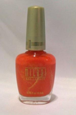 MILANI NAIL POLISH LACQUER #51 JUST JUICY - Coral Orange with Shimmer - RARE