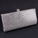 High End Quality Clutch Silver Bag Genuine Austrian Crystal