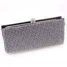 High End Quality Clutch Black Bag Genuine Austrian Crystal