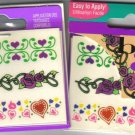 2 PACKS - NAILENE TEMPORARY TATTOOS - Body Art # 77140E