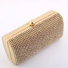 Gold - High End Quality Clutch Evening Bag Genuine Austrian Crystal Rhinestone