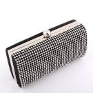 Black - High End Quality Clutch Evening Bag Genuine Austrian Crystal Rhinestone