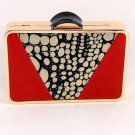 High End Quality Modern Leatherette Clutch Evening Bag  - Choice of 3 colors