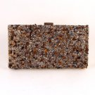 High End Quality Clutch Bag w/ Crystal Stones Cluster - Choice of 4 colors