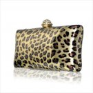Luxury Leopard Clutch Austrian Crystal Rhinestone Evening Bag