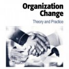 Organization Change: Theory and Practice by W. Warner Burke 0761914838