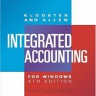 Integrated Accounting for Windows 4th by Dale Klooster 0324191391