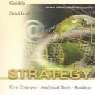Strategy: Core Concepts, Analytical Tools, Readings Arthur A. Thompson 0072918306