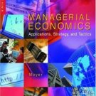 Managerial Economics: Applications, Strategy and Tactics 9th by James R. McGuigan 0324058810
