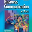 Business Communications at Work 2nd by Marilyn Satterwhite 0072930152