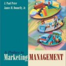 A Preface to Marketing Management 9th by J. Paul Peter 0072466588