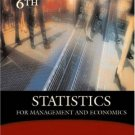 Statistics for Management and Economics 6th by Gerald Keller 0534391869