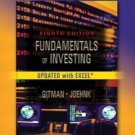 Fundamentals of Investing, Update 8th by Lawrence J. J. Gitman 0321200705
