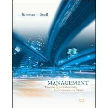 Management: Leading And Collaborating in the Competitive World 7th by Bateman 007292330X