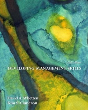 Developing Management Skills 6th by David A. Whetten 0131441426