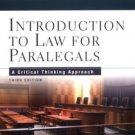 Introduction to Law for Paralegals 3rd by Katherine A. Currier 0735539898