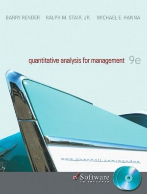 Quantitative Analysis for Management 9th by Barry Render 0131536885