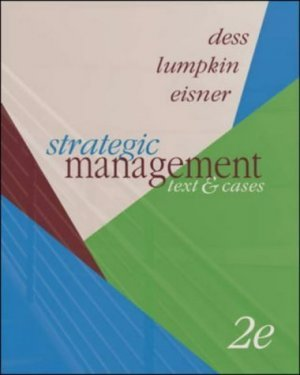 Strategic Management: Text And Cases 2nd by Gregory G. Dess 0072933917
