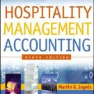 Hospitality Management Accounting 9th by Martin G. G. Jagels 0471687898