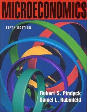 Microeconomics 5th by Pindyck, Robert S. 0130165832