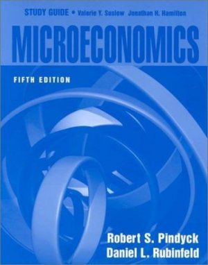 Microeconomics Study Guide 5th by Pindyck, Robert S. 0130195073