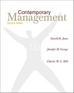 Contemporary Management 2nd by Gareth R. R. Jones 0072346310