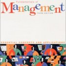Fundamentals of Management E-Business 3rd by David A. DeCenzo 0130651338