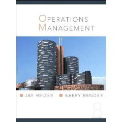 Operations Management 8th by Barry Render 013185755X