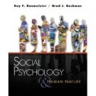 Social Psychology and Human Nature by Roy F. Baumeister 0534638325