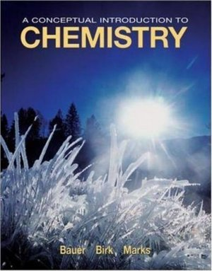 A Conceptual Introduction to Chemistry by Rich Bauer 0073301728