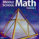 Holt Middle School Math: Course 2 by Jennie M. Bennett 0030650542