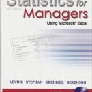 Statistics for Managers Using Microsoft Excel 4th Ed. by Levine David 0131440543
