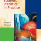 Business Statistics in Practice 3rd Ed. by Bruce L Bowerman 0072943165