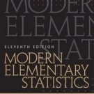 Modern Elementary Statistics, 11th Edition by John E. Freund 0130467170