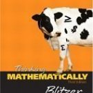 Thinking Mathematically 3rd by Robert Blitzer 0131920111