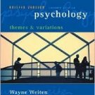 Psychology: Themes and Variations, Briefer 7th Edition by Weiten 0495100587