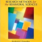 Research Methods for the Behavioral Sciences 2nd by Frederick J Gravetter 0534558119