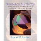 Research Methods by Edward P. Sarafino 0131111612