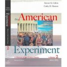 The American Experiment: A History of the United States: Since 1865 2nd Vol. 2 by Gillon 0618429514
