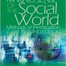 Making Sense of the Social World: Methods of Investigation 2nd by Daniel F. Chambliss 141292717X